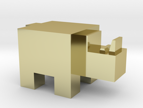 Cubicle Rhino in 18K Gold Plated