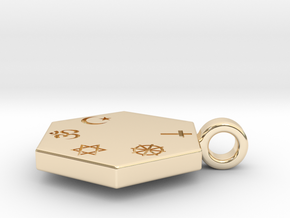 Statement for Peace: Christian pendant in 14K Yellow Gold