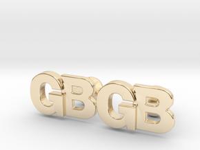 Monogram Cufflinks GB in 14k Gold Plated Brass