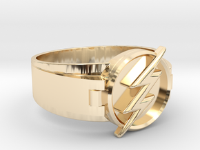 Flash Ring Size 9 19mm  in 14k Gold Plated Brass