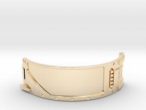 The Island ID Bracelet Top Replica Prop in 14k Gold Plated Brass