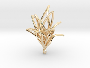 Spiral Flower with loop in 14K Yellow Gold