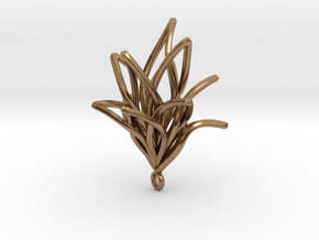 Spiral Flower with loop in Natural Brass