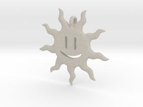 Smiling sun pendant in Natural Sandstone