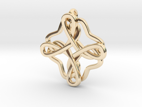Friendship knot in 14k Gold Plated Brass