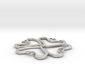 Hearts knot in Platinum