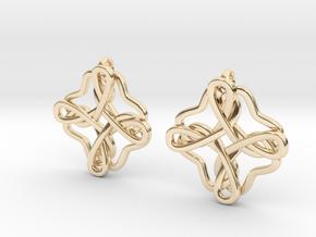 Friendship knot earrings in 14k Gold Plated Brass