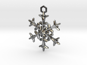 Snowflake Charm in Polished Silver