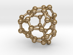 0036 Fullerene c36-08 cs in Polished Gold Steel