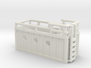 mobiler Pool - 1:220 (Z scale) in White Natural Versatile Plastic
