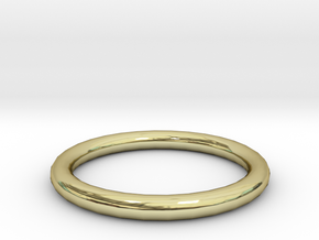 Shiny Bronze ring in 18K Gold Plated