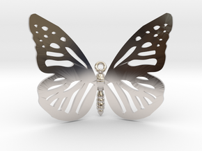 Butterfly Pendant in Rhodium Plated Brass