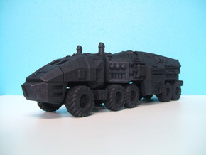 Command Trailer and Tractor 1/87 HO Scale  in Black Natural Versatile Plastic
