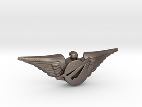Big Imagination First Class Wings in Polished Bronzed Silver Steel