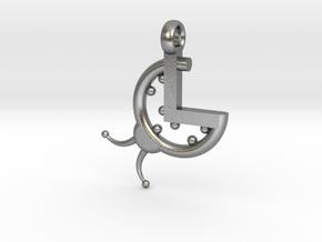 La Coccinella - Logo 3D portachiavi in Natural Silver