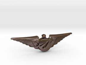 Big Imagination Captain's Wings in Polished Bronze Steel