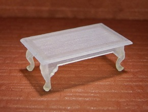1:48 Queen Anne Coffee Table in Smooth Fine Detail Plastic