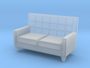 1:48 Sixties Loveseat in Smooth Fine Detail Plastic