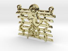 Warrior Ethos Pendant 146075 in 18K Gold Plated