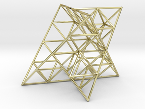 Rod Merkaba Lattice OpenBase 4cm in 18K Gold Plated