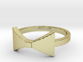 Bow Tie Ring (Size 7) in 18K Gold Plated