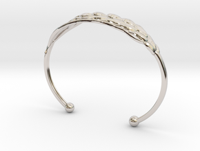 Wheat Bracelet all sizes in Rhodium Plated Brass: Extra Small