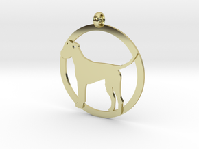 Irish Terrier charm in 18K Gold Plated