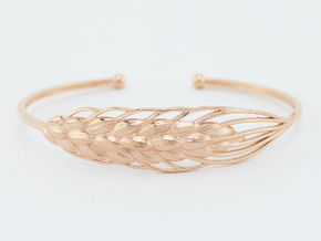Wheat Bracelet all sizes in 14k Rose Gold Plated: Small
