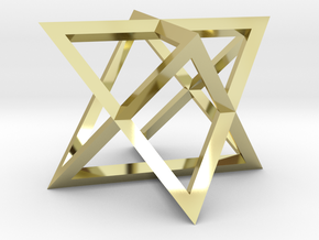 """Star Tetrahedron 1.4"""" in 18K Gold Plated"""