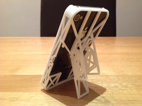iPhone 4 / 4s Case with Flip Out Stands - TriStand in White Natural Versatile Plastic