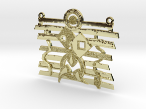 Warrior Ethos Textured Pendant in 18K Gold Plated
