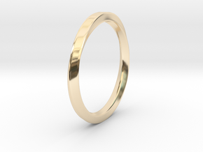 Möbius Ring in 14k Gold Plated Brass: 11 / 64
