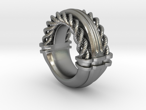 Rope Ring Print in Natural Silver