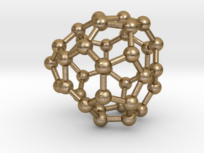 0037 Fullerene c36-09 c2v in Polished Gold Steel