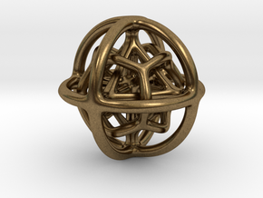 Gyroid 01 in Natural Bronze