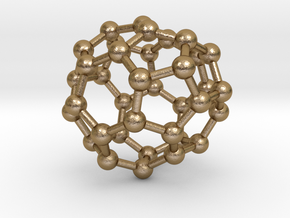 0040 Fullerene c36-12 c2 in Polished Gold Steel