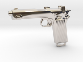 STEYR 9 GUN in Rhodium Plated Brass