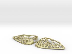 Metal Butterfly Earrings (L) in 18K Gold Plated
