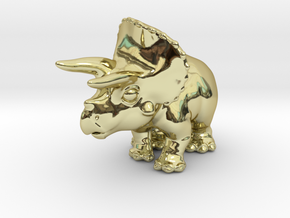 Triceratops Chubbie Krentz in 18K Gold Plated