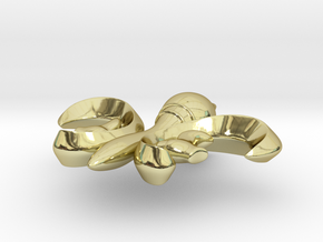 PendantFinal01 in 18K Gold Plated