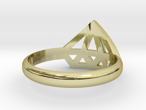 Diamant ring in 18K Gold Plated