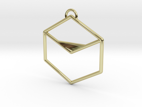 Smooth Cube in 18K Gold Plated