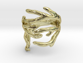 Antler Ring Size 7.5 in 18K Gold Plated