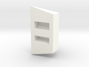 ElecMountRubber2 in White Processed Versatile Plastic