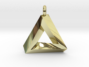 Penrose Triangle - Pendant (3.5cm | 3.5mm O-Ring) in 18K Gold Plated