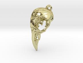 Bird Skull Pendant  in 18K Gold Plated