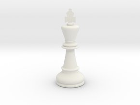 King (Chess) in White Natural Versatile Plastic