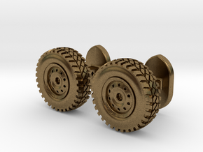 Wheel cufflinks  in Natural Bronze