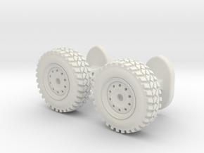 Wheel cufflinks  in White Natural Versatile Plastic
