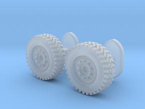 Wheel cufflinks  in Smooth Fine Detail Plastic